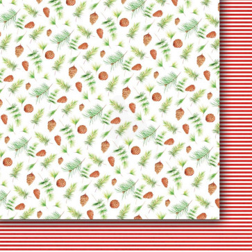 "Galeria Papieru A Christmas Tree Dobbeltsidet Cardstock 12x12"" Paper - Design 02"