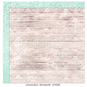 """LemonCraft Double Sided 12x12"""" Scrapbooking Paper - Yesterday 06"""
