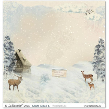 "LaBlanche Papers ""Santa Claus"" 6 Dobbeltsidet 12x12"""
