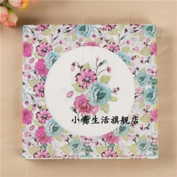 Decoupage Servietter - Colorful Flower