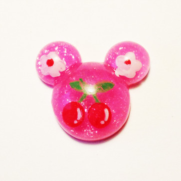 Beyond Visions Resin Pynt - Hot Pink Mickey-Minnie Hoved