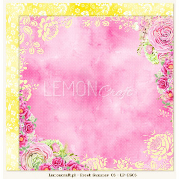 """LemonCraft Double Sided 12x12"""" Scrapbooking Paper - Fresh Summer 05"""