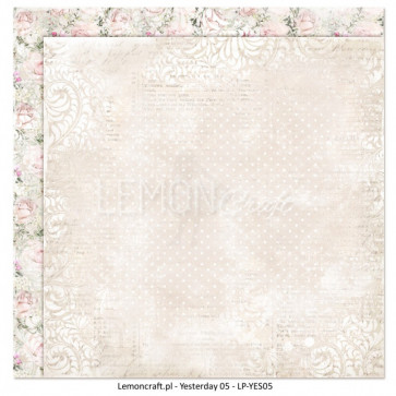 """LemonCraft Double Sided 12x12"""" Scrapbooking Paper - Yesterday 05"""