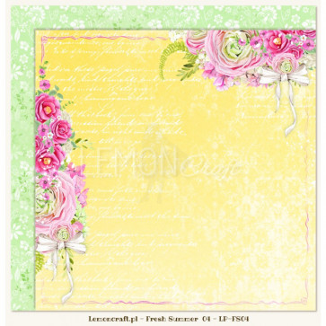 "LemonCraft Double Sided 12x12"" Scrapbooking Paper - Fresh Summer 04"