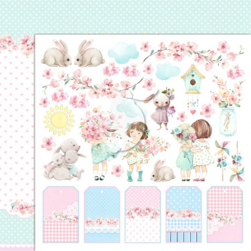 """LemonCraft 12x12"""" Double-Sided Scrapbooking Paper Girl's Little World 4"""