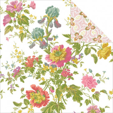 "Anna Griffin Olivia Double-Sided Cardstock 12x12"" - Iris Floral/Ivory"