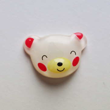 Beyond Visions Resin Pynt - Hvid Bamse Hoved