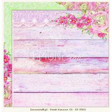"""LemonCraft Double Sided 12x12"""" Scrapbooking Paper - Fresh Summer 03"""