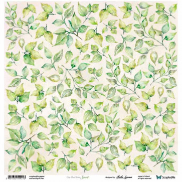 "ScrapAndMe Paper Ark 12x12"" Meadow Impressions Leaves Cut Out Sheet"