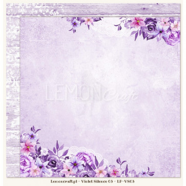 "LemonCraft Double Sided 12x12"" Scrapbooking Paper - Violet Silence 03"