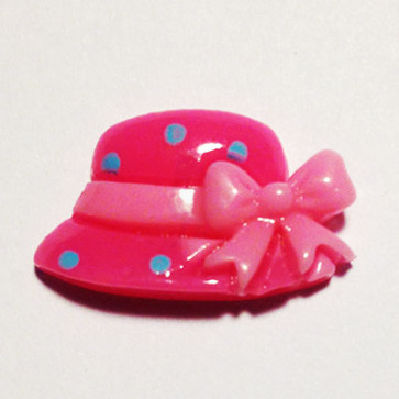 Resin Hat - Hot Pink