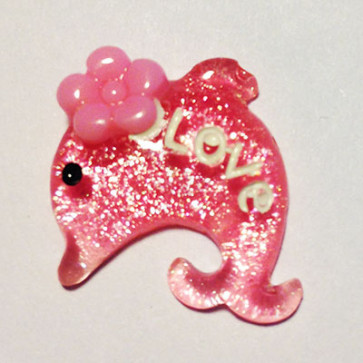 Beyond Visions Resin Pynt - Hot Pink Delfin