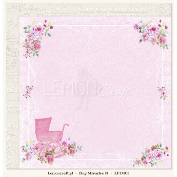 "LemonCraft Tiny Miracles Collection 12x12"" Dobbeltsidet Scrapbooking Papir - 01"