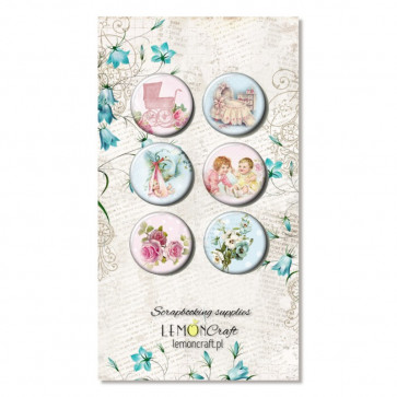LemonCraft Tiny Miracles Collection - Selfadhesive Buttons / Badges