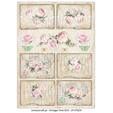 LemonCraft A4 Scrapbooking Paper, Yesterday, Vintage Time 024
