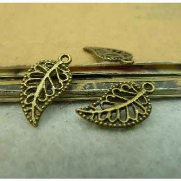 Charms 1x1,7cm Antik Bronze Blad