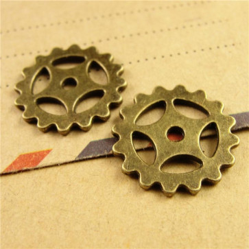 Beyond Visions Metal Pynt Charms - Steampunk Gears