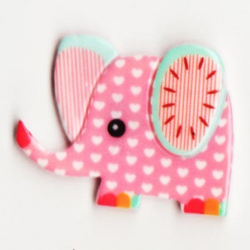 Resin Kawaii Elefant Pink