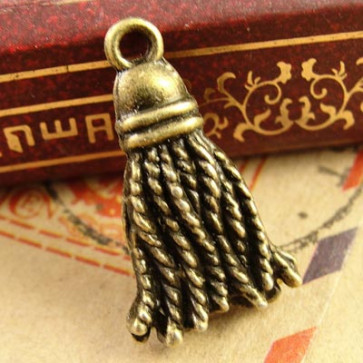 Charms 1,2x2cm Antik Bronze Mode Tassel