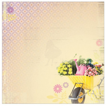 """Paper House 12x12"""" Floral Paper - Full Of Flowers"""