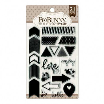 """BoBunny Clear Stamps 4x6"""" - To The Point"""