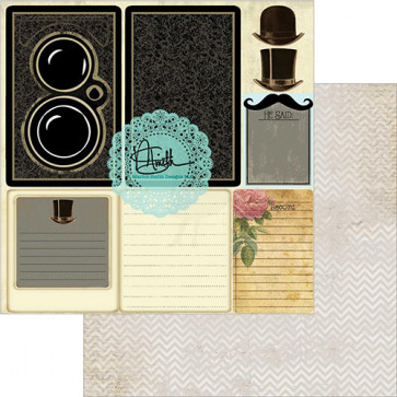 """Marion Smith Designs Garment District Double-Sided Cardstock 12x12"""" - He Said"""