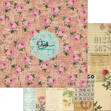 """Marion Smith Designs Garment District Double-Sided Cardstock 12x12"""" - Blush"""