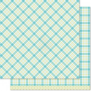 """Lawn Fawn Perfectly Plaid Double-Sided Cardstock 12x12"""" - Ivy"""