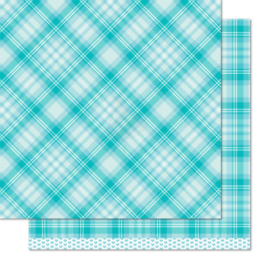 "Lawn Fawn Perfectly Plaid Double-Sided Cardstock 12x12"" - Daniella"