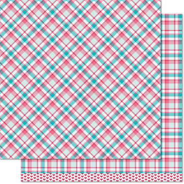 "Lawn Fawn Perfectly Plaid Double-Sided Cardstock 12x12"" - Lynette"