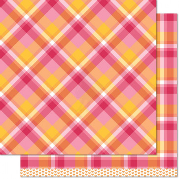 "Lawn Fawn Perfectly Plaid Double-Sided Cardstock 12x12"" - Nicole"