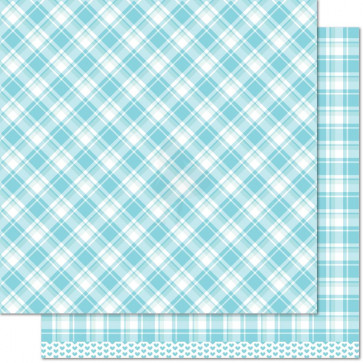 "Lawn Fawn Perfectly Plaid Double-Sided Cardstock 12x12"" - Nancy"