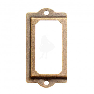 Beyond Visions Metal Pynt - Antique Brass Metal Tag Ramme