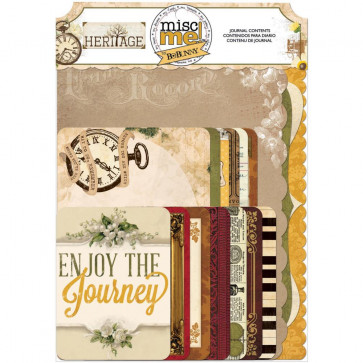 Bo Bunny Misc Me Journal Contents - Heritage