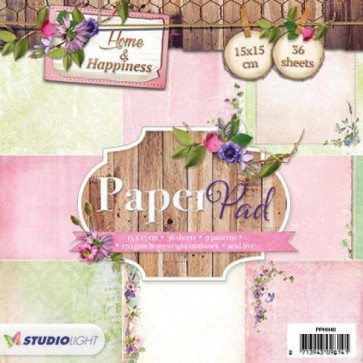 "StudioLight Home & Happiness 6x6"" Paper Pad - #40 TASTER"