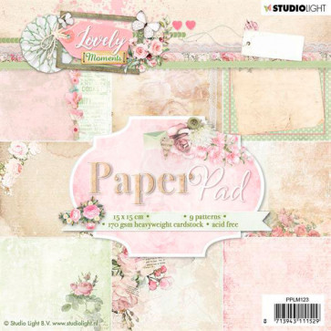 """StudioLight 6x6"""" Paperpad Lovely Moments #123 TASTER"""
