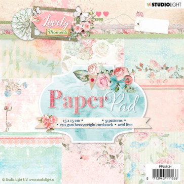 """StudioLight 6x6"""" Paperpad Lovely Moments #124 TASTER"""