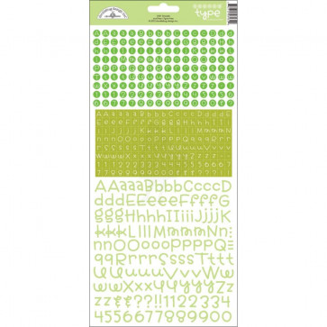 Teensy Type Cardstock Alphabet Stickers - Limeade