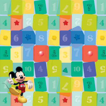 """Disney Speciality Paper 12x12"""" - Mickey Shapes med Glitter"""
