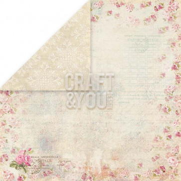 "Craft & You Design Wedding Garden Dobbeltsidet Cardstock 12x12"" Paper - 02"