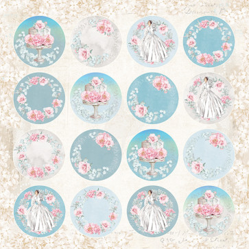 "Craft & You Scrapbooking Ark 12x12"" Pastel Wedding 7"