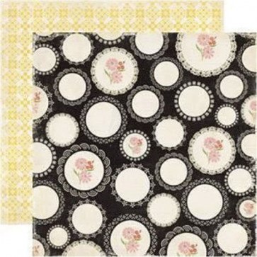 "Echo Park For The Record 2 Tailored Dobbelsidet Cardstock 12x12"" - Scattered Doilies"