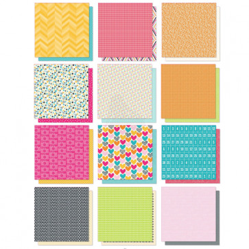 "Project Life Double-Sided Paper Pack 12x12"" Kiwi TASTER"