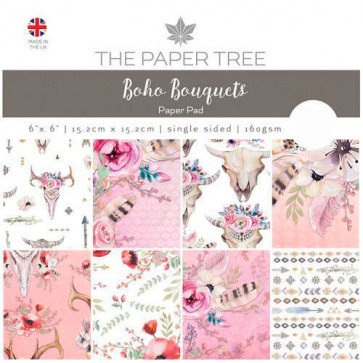 "The Paper Tree 6x6"" Paperpad Boho Bouquets TASTER"