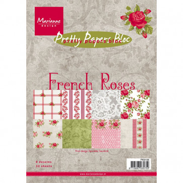 Marianne Design A5 Papirblok - French Roses TASTER