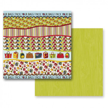 "Prima Marketing Road Trip 12x12"" Dobbeltsidet Cardstock - Open Road"