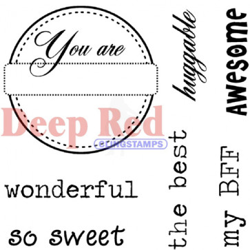 Deep Red Cling Stamp - You Are