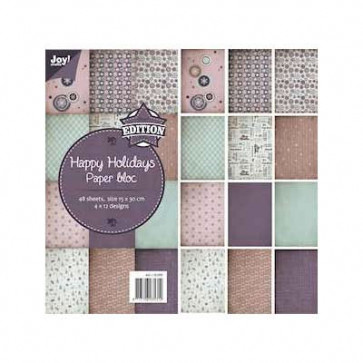 JOY! Crafts Happy Holidays Paper Bloc 15x30cm TASTER