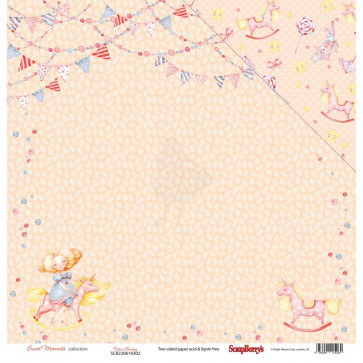 """ScrapBerry's Sweet Moments Double-Sided Cardstock 12x12"""" Festive Bunting"""