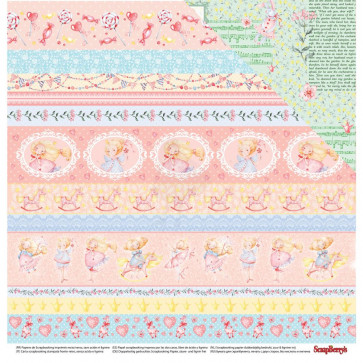 """ScrapBerry's Sweet Moments Double-Sided Cardstock 12x12"""" Storytime"""